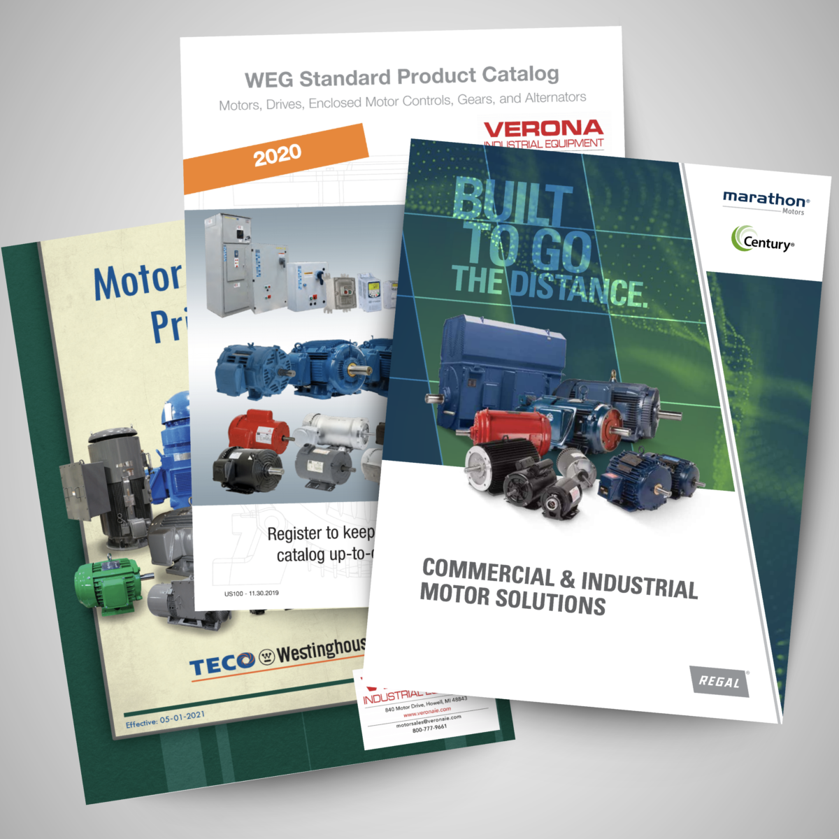 product catalogs graphic over background