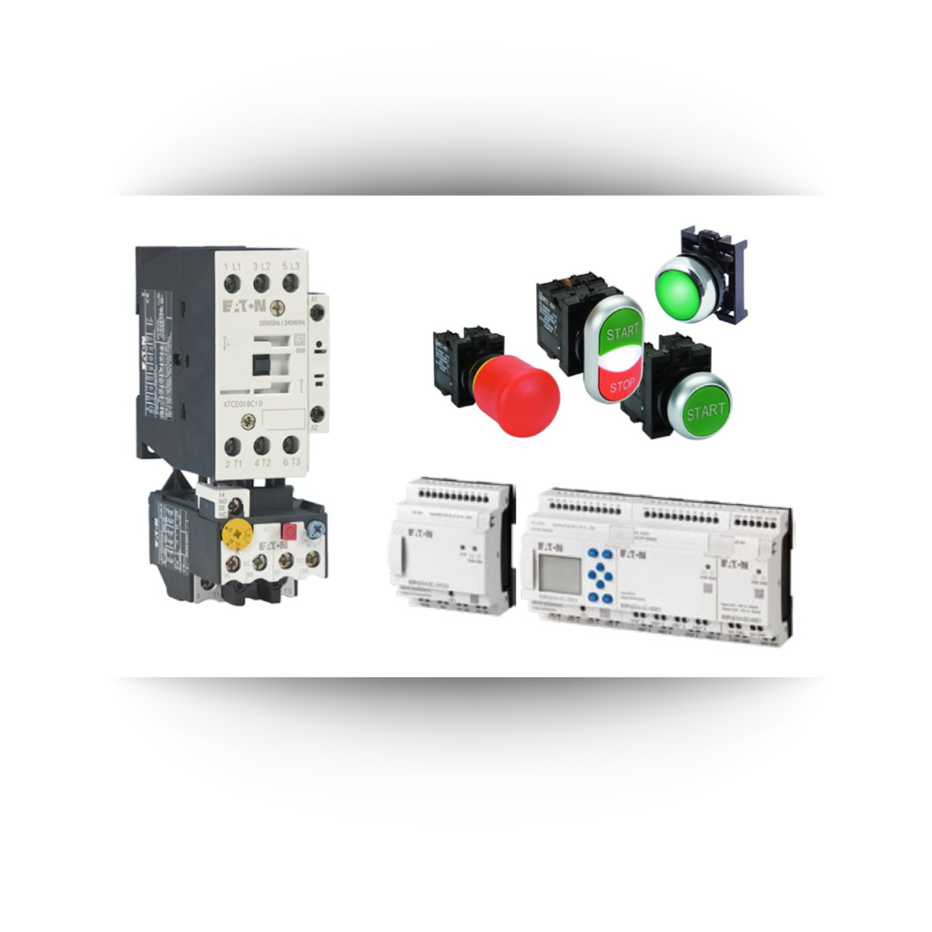 manufacturing equipment controls product image on background