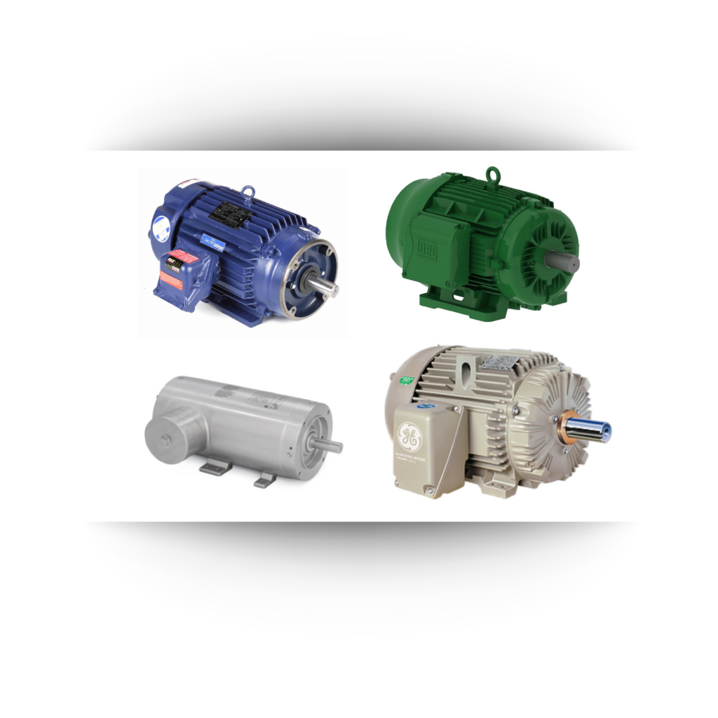 industrial motors; product over background